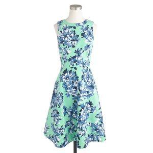 J.Crew Green/Blue Photo Floral Sleeveless Dress